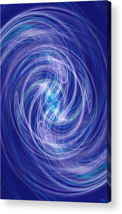 Spiral Acrylic Print featuring the digital art Spiral Dance by Kenneth Armand Johnson
