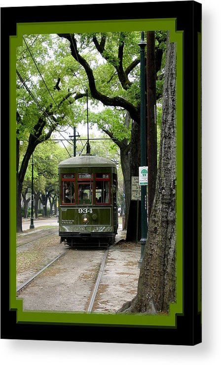 New Orleans Acrylic Print featuring the photograph St. Charles Street Car by Linda Kish