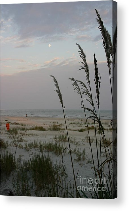 Moon Acrylic Print featuring the photograph Sunset Moon by Beebe Barksdale-Bruner