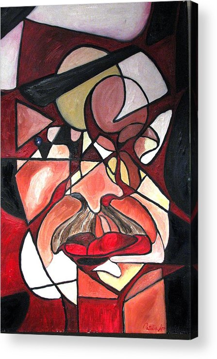 Abstract Acrylic Print featuring the painting The Brain Surgeon by Patricia Arroyo