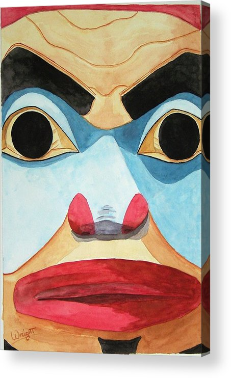 Indian Art Acrylic Print featuring the painting The Elder by Larry Wright