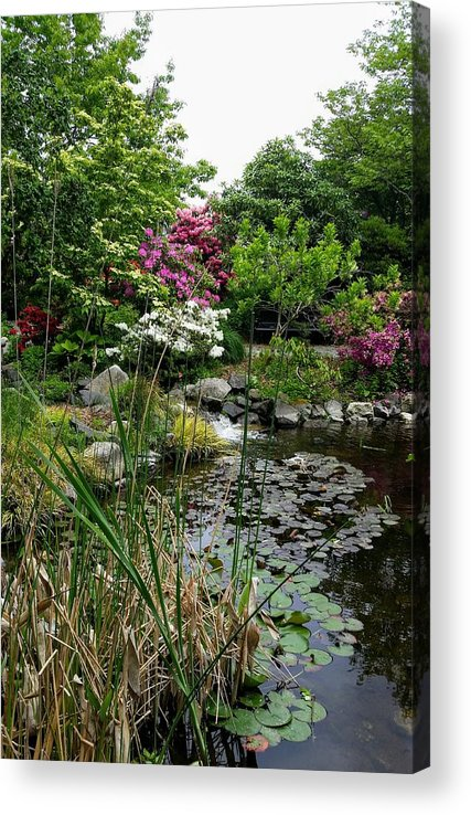 Botanical Flower's Nature Acrylic Print featuring the photograph The peaceful place 12 by Valerie Josi