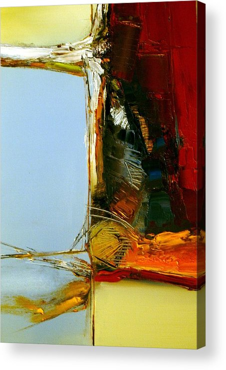 Abstract Acrylic Print featuring the painting The Space Between Us All by Stefan Fiedorowicz
