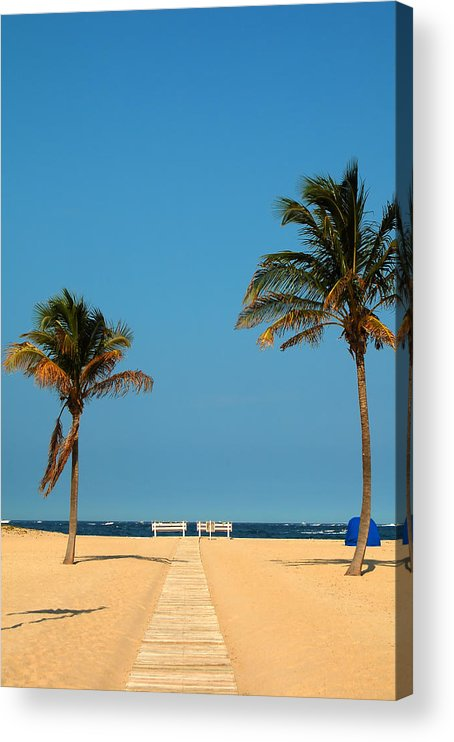 Tropical Acrylic Print featuring the photograph Tropical Paradise by Mandy Wiltse