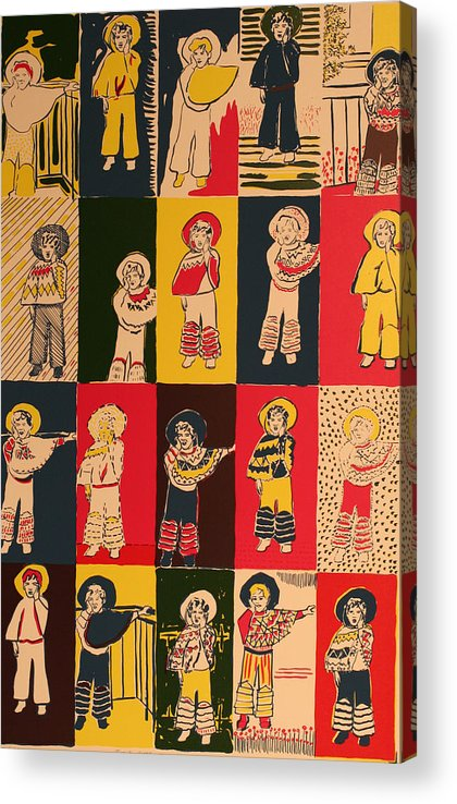 Acrylic Print featuring the painting Twenty little Mexicans by Biagio Civale