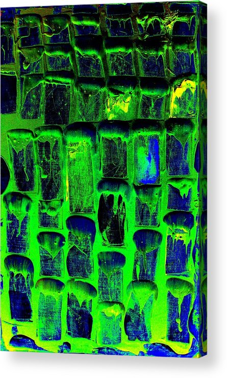 Abstract Prints Acrylic Print featuring the painting Untitled by Teo Santa