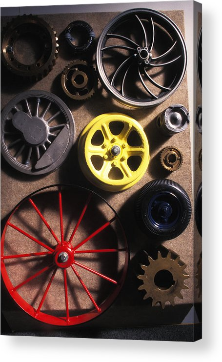 Red Acrylic Print featuring the photograph Who Invented the Wheel? by Carl Purcell