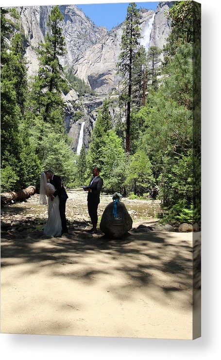 Acrylic Print featuring the painting Yosemite Wedding by Travis Day