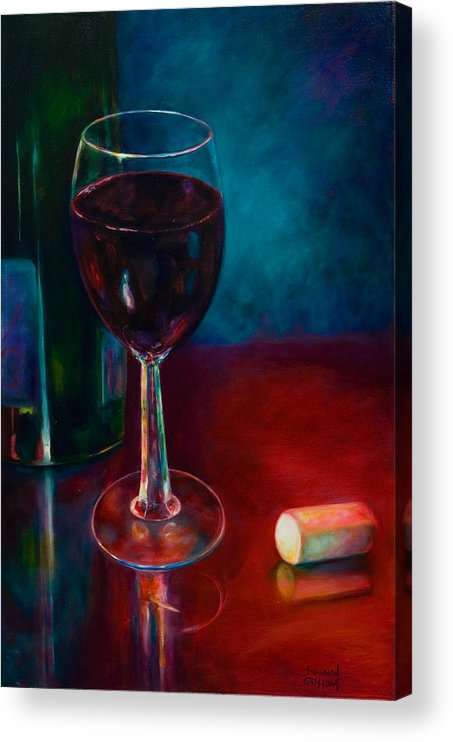 Wine Bottle Acrylic Print featuring the painting Zinfandel by Shannon Grissom
