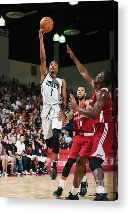 Nba Pro Basketball Acrylic Print featuring the photograph 2017 Las Vegas Summer League - Miami by Noah Graham