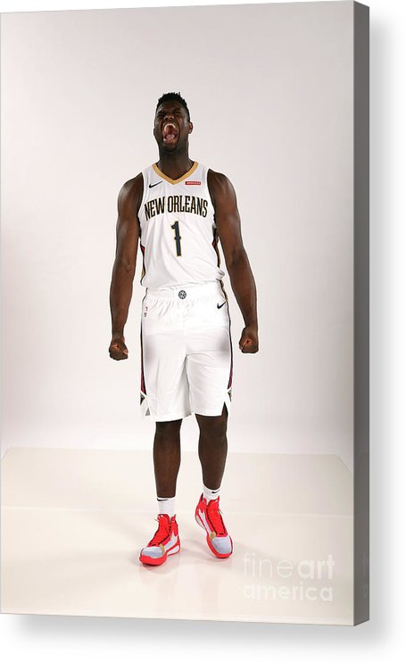 Media Day Acrylic Print featuring the photograph 2019-20 New Orleans Pelicans Media Day by Layne Murdoch Jr.