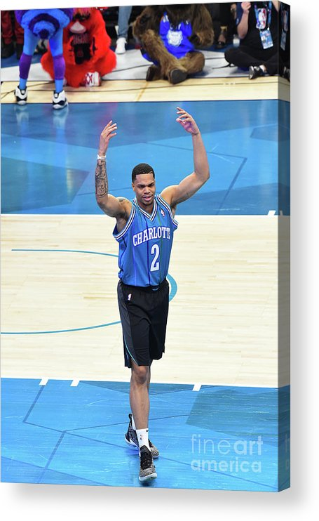 Nba Pro Basketball Acrylic Print featuring the photograph 2019 At&t Slam Dunk Contest by Juan Ocampo