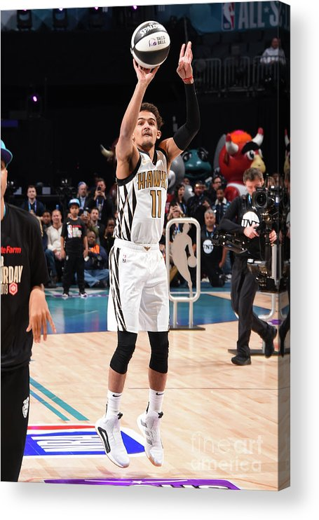Nba Pro Basketball Acrylic Print featuring the photograph 2019 Taco Bell Skills Challenge by Andrew D. Bernstein