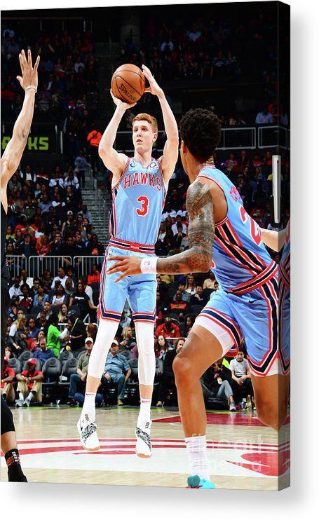 Atlanta Acrylic Print featuring the photograph Brooklyn Nets V Atlanta Hawks by Scott Cunningham