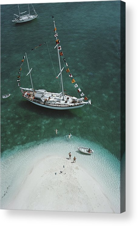 People Acrylic Print featuring the photograph Charter Ketch by Slim Aarons