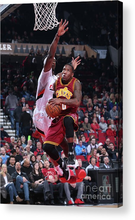 Nba Pro Basketball Acrylic Print featuring the photograph Cleveland Cavaliers V Portland Trail by Sam Forencich