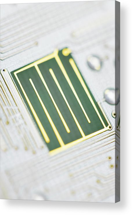Tin Acrylic Print featuring the photograph Close-up Of A Circuit Board by Nicholas Rigg