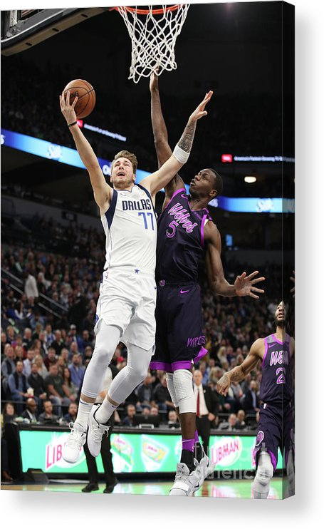 Nba Pro Basketball Acrylic Print featuring the photograph Dallas Mavericks V Minnesota by Jordan Johnson