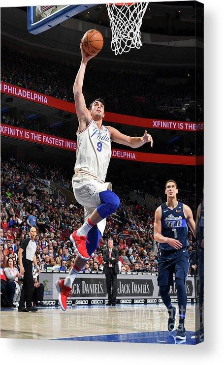Sports Ball Acrylic Print featuring the photograph Dallas Mavericks V Philadelphia 76ers by Jesse D. Garrabrant