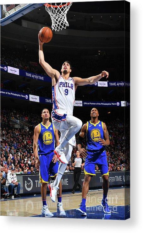 Nba Pro Basketball Acrylic Print featuring the photograph Golden State Warriors V Philadelphia by Jesse D. Garrabrant