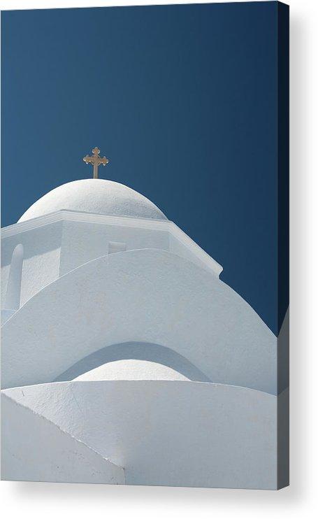 Greek Culture Acrylic Print featuring the photograph Greek Chapel by Deimagine