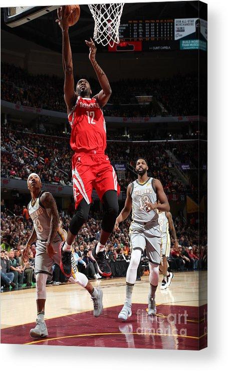 Nba Pro Basketball Acrylic Print featuring the photograph Houston Rockets V Cleveland Cavaliers by Joe Murphy