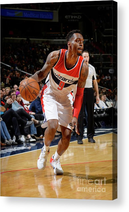 Nba Pro Basketball Acrylic Print featuring the photograph Indiana Pacers V Washington Wizards by David Dow