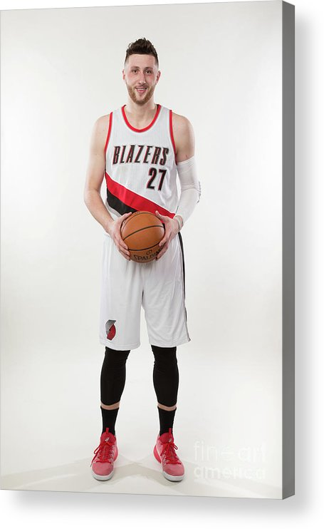 Jusuf Nurkić Acrylic Print featuring the photograph Jusuf Nurkic Photo Shoot by Sam Forencich