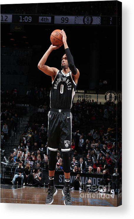 Nba Pro Basketball Acrylic Print featuring the photograph La Clippers V Brooklyn Nets by Nathaniel S. Butler