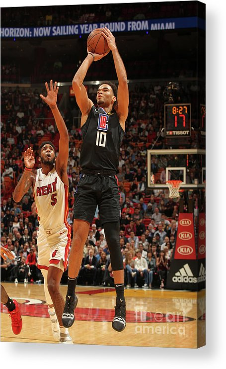 Jerome Robinson Acrylic Print featuring the photograph La Clippers V Miami Heat by Oscar Baldizon