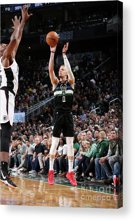 Nba Pro Basketball Acrylic Print featuring the photograph La Clippers V Milwaukee Bucks by Gary Dineen