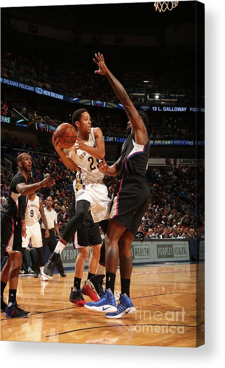 Smoothie King Center Acrylic Print featuring the photograph La Clippers V New Orleans Pelicans by Layne Murdoch