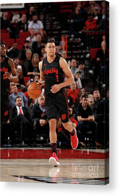 Nba Pro Basketball Acrylic Print featuring the photograph La Clippers V Portland Trail Blazers by Cameron Browne