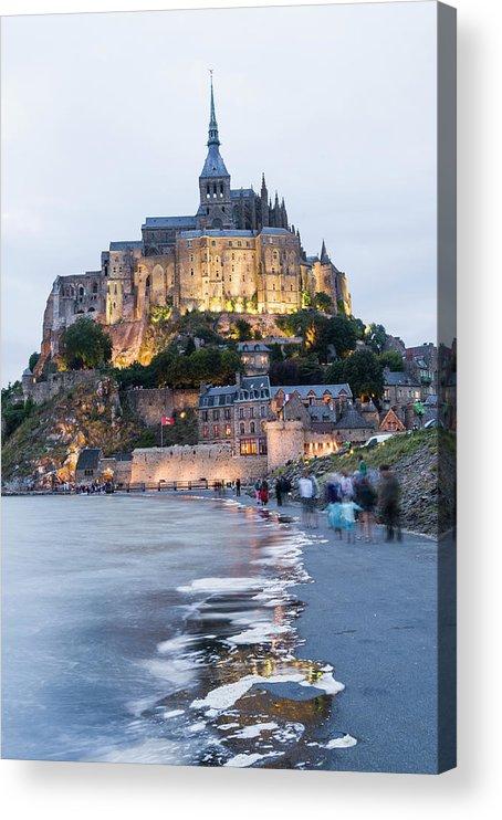 Mont Saint-michel Acrylic Print featuring the photograph Le Mont Saint Michel, Normandy, France by John Harper