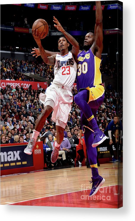 Nba Pro Basketball Acrylic Print featuring the photograph Los Angeles Lakers V La Clippers by Andrew D. Bernstein