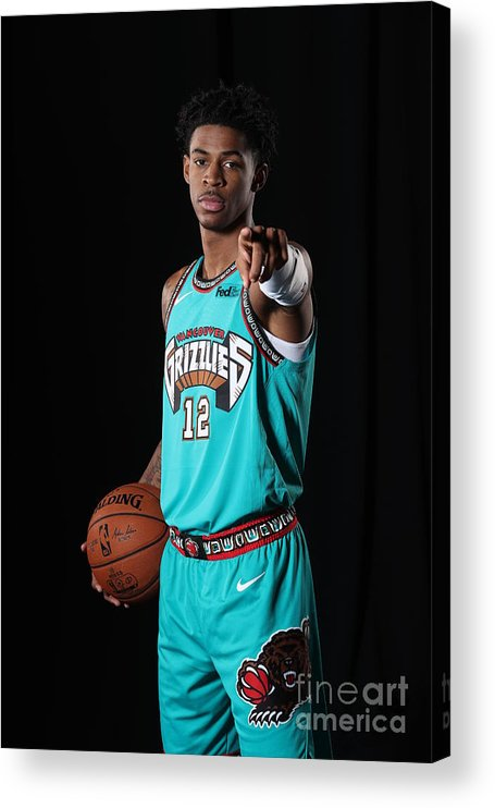 Nba Pro Basketball Acrylic Print featuring the photograph Memphis Grizzlies Portrait Shoot In by Joe Murphy
