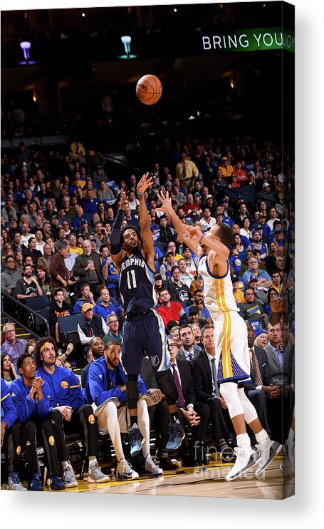 Nba Pro Basketball Acrylic Print featuring the photograph Memphis Grizzlies V Golden State by Noah Graham