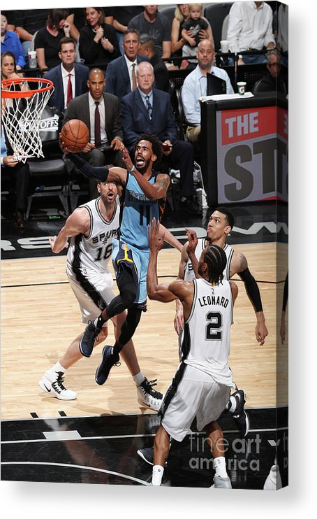 Playoffs Acrylic Print featuring the photograph Memphis Grizzlies V San Antonio Spurs - by Joe Murphy