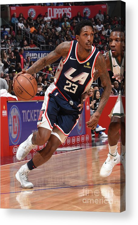 Nba Pro Basketball Acrylic Print featuring the photograph Milwaukee Bucks V La Clippers by Adam Pantozzi