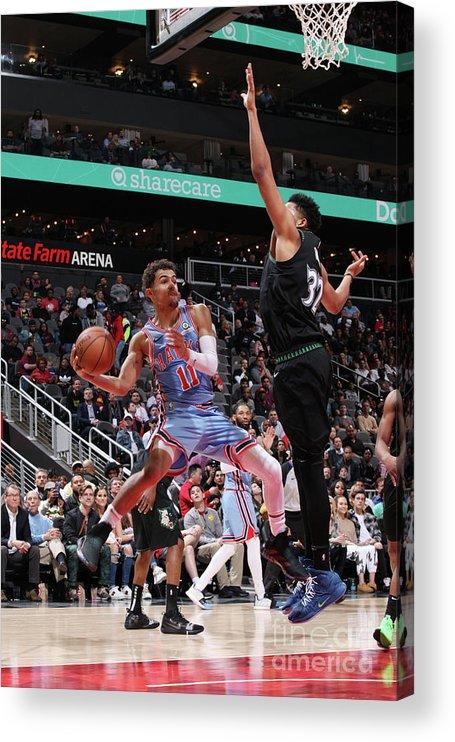 Atlanta Acrylic Print featuring the photograph Minnesota Timberwolves V Atlanta Hawks by Jasear Thompson