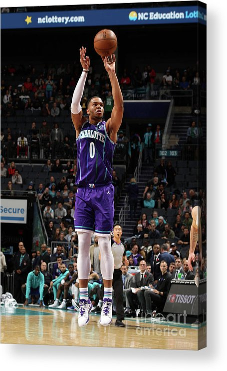 Nba Pro Basketball Acrylic Print featuring the photograph New Orleans Pelicans V Charlotte Hornets by Brock Williams-smith