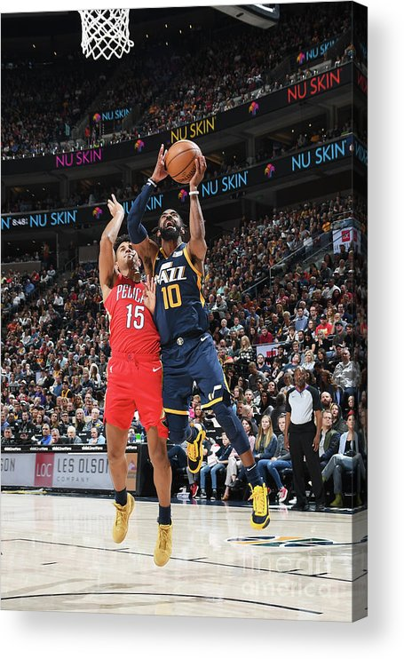 Nba Pro Basketball Acrylic Print featuring the photograph New Orleans Pelicans V Utah Jazz by Noah Graham