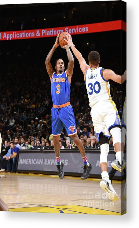 Nbaps Acrylic Print featuring the photograph New York Knicks V Golden State Warriors by Andrew D. Bernstein