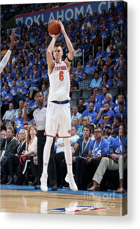 Nba Pro Basketball Acrylic Print featuring the photograph New York Knicks V Oklahoma City Thunder by Layne Murdoch