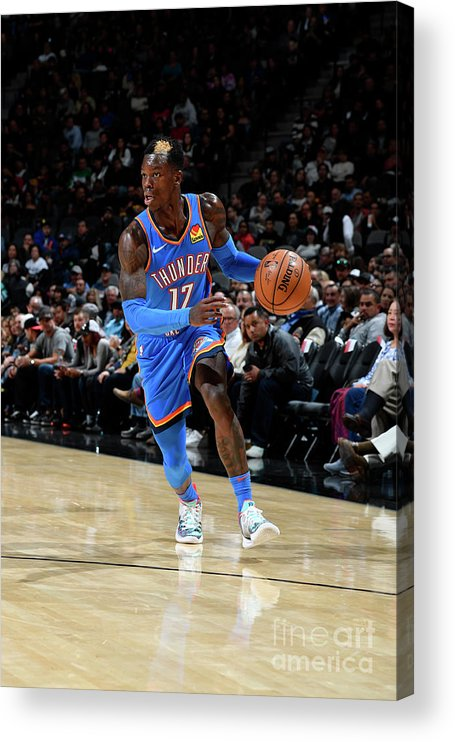 Nba Pro Basketball Acrylic Print featuring the photograph Oklahoma City Thunder V San Antonio by Logan Riely
