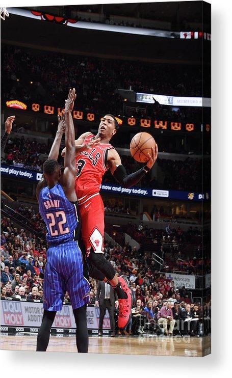 Nba Pro Basketball Acrylic Print featuring the photograph Orlando Magic V Chicago Bulls by Randy Belice