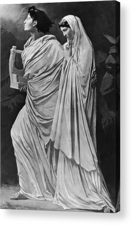 Greek Culture Acrylic Print featuring the photograph Orpheus And Eurydice by Hulton Archive