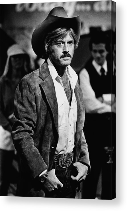 Sydney Pollack Acrylic Print featuring the photograph Robert Redford Stars In The by George Rose