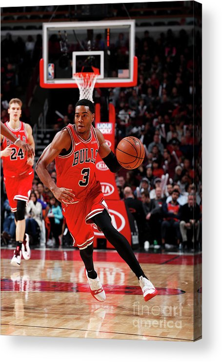 Nba Pro Basketball Acrylic Print featuring the photograph Sacramento Kings V Chicago Bulls by Jeff Haynes