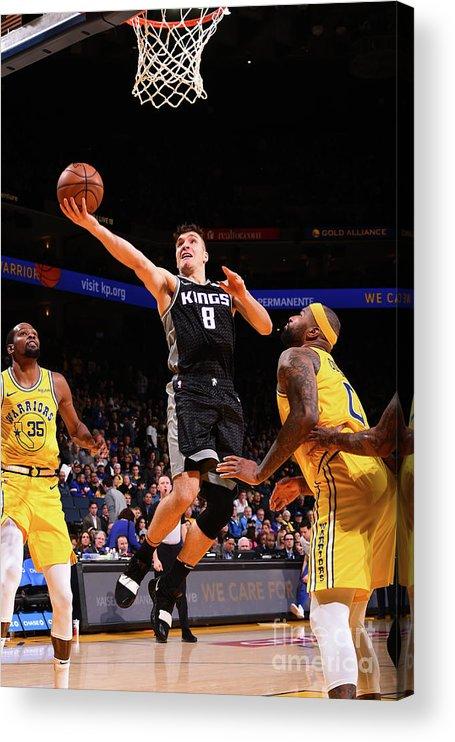 Nba Pro Basketball Acrylic Print featuring the photograph Sacramento Kings V Golden State Warriors by Noah Graham